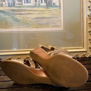 Franco Sarto Shoes - Franco Sarto gold sandals w/ankle strap size 10